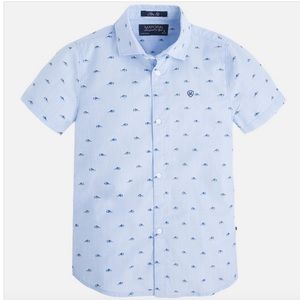 Mayoral Boys Sneakers Shoes Button Down Shirt 2T